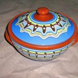 Гювече от керамика в синьо